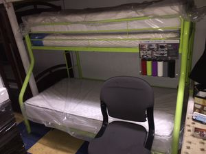 Twin full bunk bed no mattress any colors for Sale in Long Beach, CA