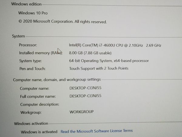 LENOVO THINKPAD T440s core i7 4th 14 inch Ultra notebook 8gb ram 256gb ssd win10 office adobe apps