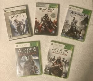 5 Assassins Creed games for Xbox 360 for Sale in College Park, GA