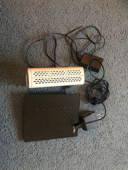 Surfboard Arris SB6141 modem + ASUS RT N56U wireless router for Sale in Redmond,  WA