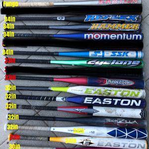 Softball bats easton gloves equipment bats $25 for Sale in Culver City, CA
