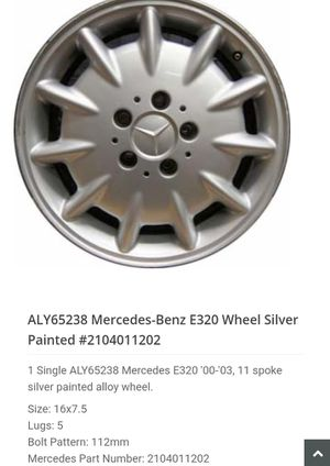 "Set of 4 ""ALY65238 Mercedes-Benz E320 Wheels"" for Sale in San Diego, CA"