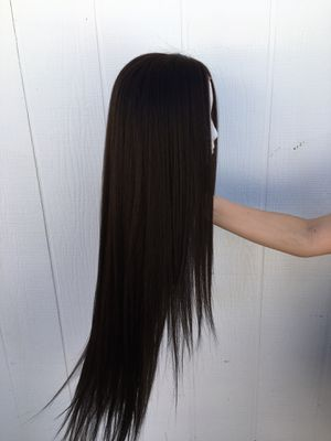 Super Long Human Hair Blend Wig w/ Lace Front + Unopened Hair care supplies for Sale in Mesa, AZ