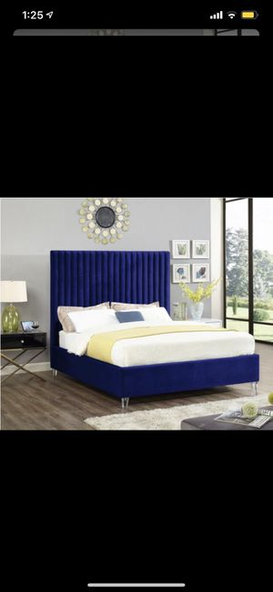 CANDACE VELVET BED FRAME ! AVAILABLE IN TWIN, FULL, QUEEN AND KING !! BRAND NEW for Sale in Queens, NY