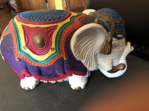 Hand Painted Ceramic Elephant for Sale in Seaford, NY