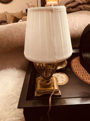 Gold color lamp for Sale in Alexandria, VA