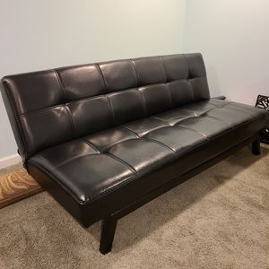 Faux Leather Futon Sofa for Sale in Parma, OH