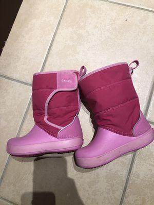Crocs little girls snow boot. 10c. for Sale in Fairfax, VA