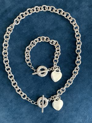 Tiffany and Co Toggle Heart Necklace and Bracelet Set for Sale in Raleigh, NC