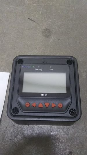Pever Remote Meter MT50 for MPPT Solar Charge Controller LCD Display Monitoring Reading Datas Suitable for EPsolar Series for Sale in Baldwin Park, CA