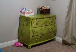Green Shabby Chic Dresser with Mirror for Sale in Salt Lake City, UT