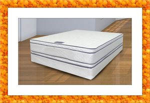 Queen mattress double pillowtop free box spring and shipping for Sale in Ashburn, VA