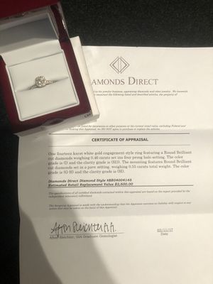 Diamond Direct engagement ring. Size 5 1/2 for Sale in Richmond, VA
