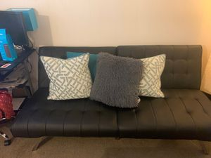 Faux Leather Futon/Couch for Sale in Tempe, AZ