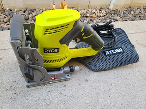 RYOBI 6 Amp AC Biscuit Joiner Kit with Dust Collector and Bag for Sale in Murrieta, CA