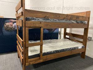 🛏 ⚡️☄️ Promoción de Litera Twin $300 ⚡️Twin con colchón. / Bunk Bed Twin/Twin with mattresses $545 (precio fijo)☄️⚡️ for Sale in Dallas, TX