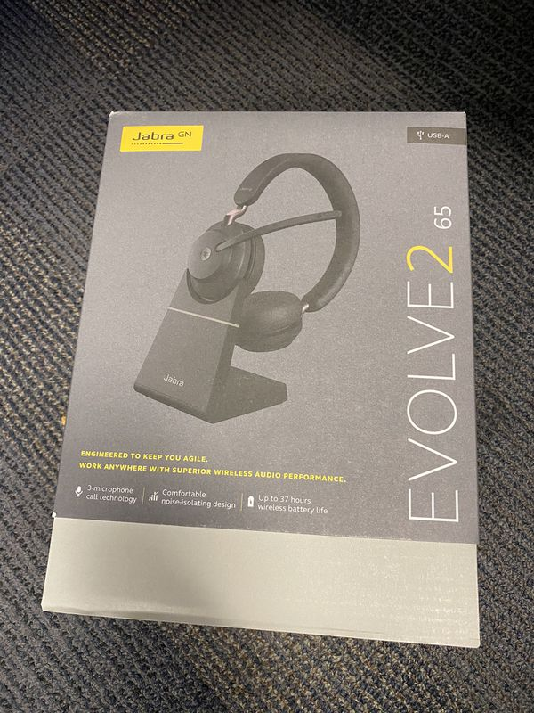 (BRAND NEW) Jabra Evolve2 65 MS Wireless Headphones with Link380a, Stereo