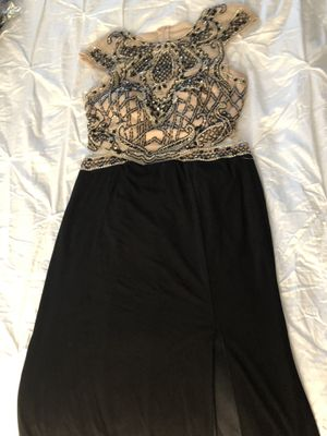 New Evening Dress / color black with gold size 11 for Sale in Sugar Land, TX