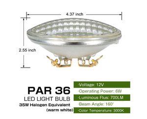 Haian PAR36 LED Landscape Bulb,6W 700LM 35W Halogen Equivalent,3000K Warm White,12V AC/DC,Water Resistant,PAR36 LED Bulb (1 Pack) for Sale in Rancho Cucamonga, CA