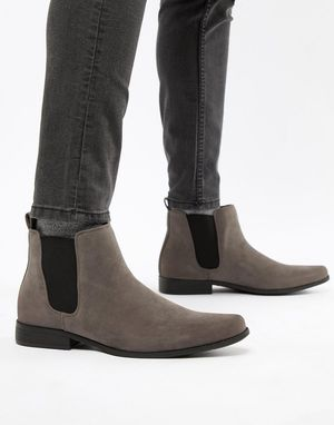 NEW! ASOS Mens Fashion Gray Grey Faux Suede Chelsea Boots - Size 10 NIB for Sale in Ceres, CA