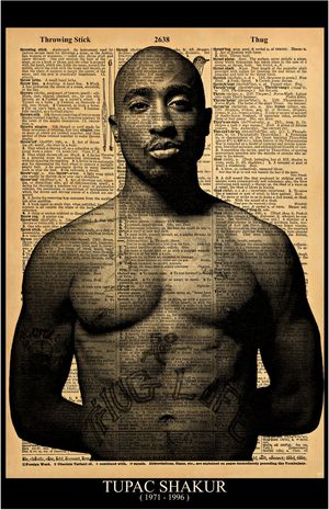"Music Artist and Rap Legend TUPAC print / Poster size 11""x17 Vintage Dictionary style on a page with the word THUG for Sale in Hesperia, CA"