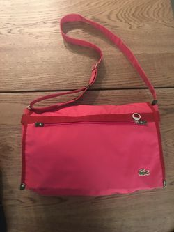 Lacoste pink messenger bag for Sale in Everett,  MA