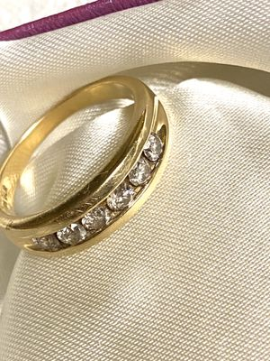 10k Solid Gold Daimond band , Size 13 for Sale in Waterbury, CT