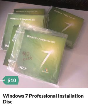 Windows 7 Professional Installation Disc for Sale in Clermont, FL