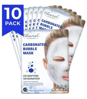 Ebanel Korean Facial Face Bubble Mask Sheet, 10PK, Instant Brightening Hyaluronic Acid and Detoxifying Carbonated Oxygen Foaming with Vitamin C,Pepti for Sale in Grand Prairie, TX