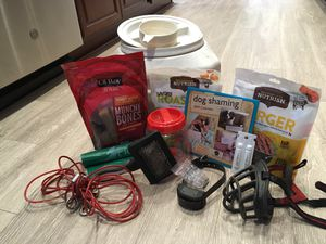 DOG CABLE, BARK COLLAR, BRUSH, TREATS, MUZZLE, FLEA MEDICINE, ETC! for Sale in Ranson, WV