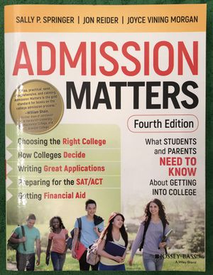 NEW paperback copy of Admissions Matters for Sale in San Diego, CA