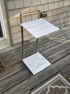 Marble and copper end table for Sale in Duxbury, MA