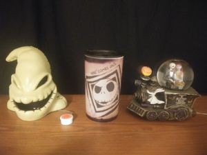 Nightmare Before Christmas Snowglobe, Fog Machine, and Cup for Sale in Milford, MA