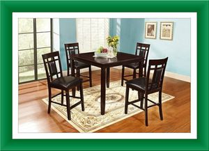 5 of solid wood dining table brand new for Sale in Hillcrest Heights, MD