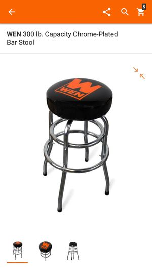 300 lb. Capacity Chrome-Plated Bar Stool for Sale in Columbus, OH
