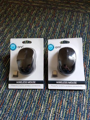 Onn Wireless Mouse, New (2 for $12) for Sale in Tinley Park, IL