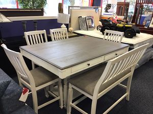 New White & Grey Table for Sale in Virginia Beach, VA