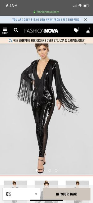 Black Sequin Fringe Jumpsuit XS for Sale in Orlando, FL