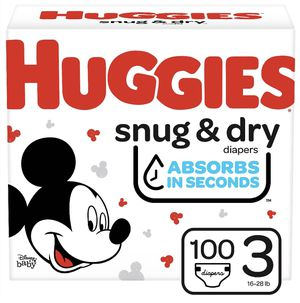 (Size 3) (100 ct) Huggies Snug&Dry Diapers! Super Pack! for Sale in Chino Hills, CA