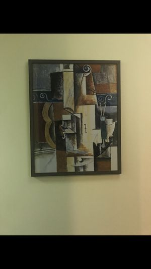 Brown and Black Abstract Painting for Sale in Chicago, IL