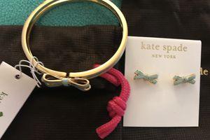 Kate Spade Bracelet & Earrings Double Bow Set/ Brand New for Sale in Huntington Beach, CA