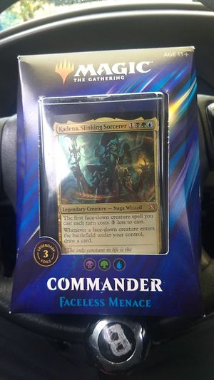Wow!!!! 1/2 OFF On Brand New Magic The Gathering Commander Primal Genesis, Faceless Menace, Merciless Rage for Sale in Lynnwood, WA