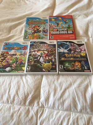 Nintendo Wii Games Super Mario Paper, Super Smash Bros Brawl for Sale in Sacramento, CA
