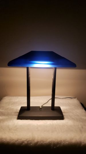 Vintage Blue Glass 80s Halogen Lamp for Sale in Tucson, AZ