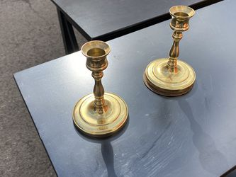 Pair Of Brass Candle Holders for Sale in Portland,  OR