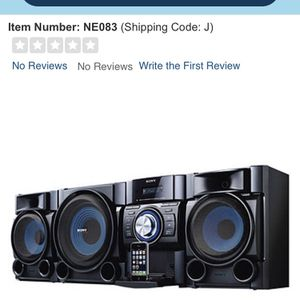 Sony Stereo System With Subwoofer for Sale in Visalia, CA