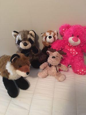 Lot of 5 random stuffed animals for Sale in Avon, IN