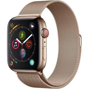 Apple Watch Series 4, GPS + Cellular, 44mm, Gold Stainless Steel Case, Gold Milanese Loop for Sale in Aurora, IL