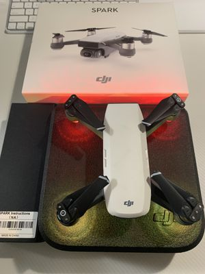 Dji spark drone. PERFECT CONDITION   basically brand new in box for Sale in San Diego, CA