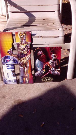 2 Star Wars metal signs for Sale in Visalia, CA